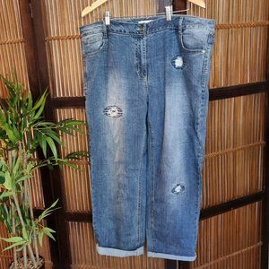 TS Virtuelle size 20 blue distressed jeans
